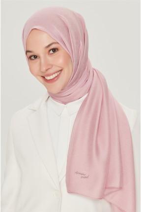 حجاب تركي مزين باسم الماركة من الاسفل