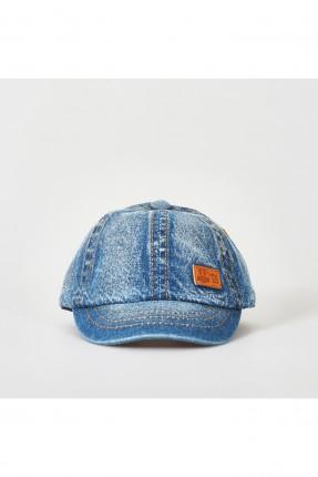 قبعة بيبي ولادي جينز حديث الولادة