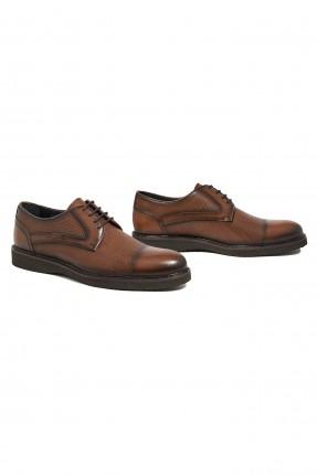 حذاء رجالي جلد بنقشة
