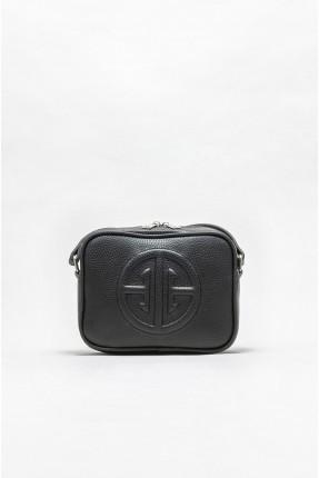 حقيبة يد نسائية مزينة بطبعة الماركة