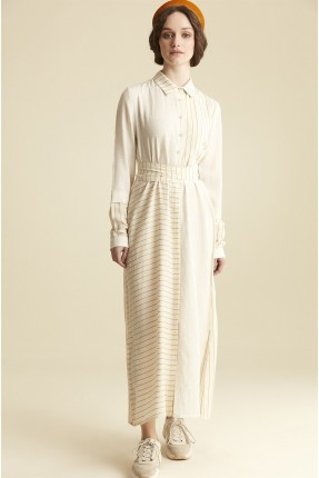 فستان نسائي مخطط