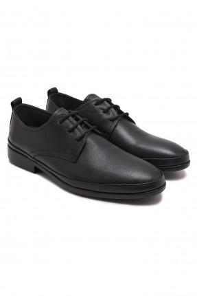 حذاء رجالي جلد براط - اسود