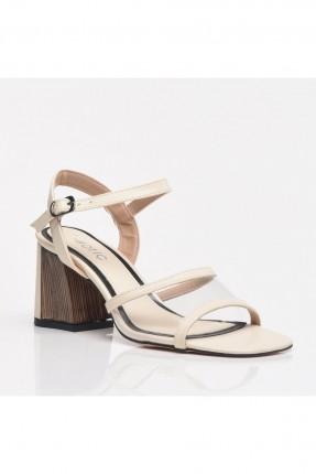 حذاء نسائي شغاف من الامام - بيج