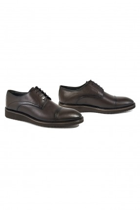 حذاء رجالي جلد - بني