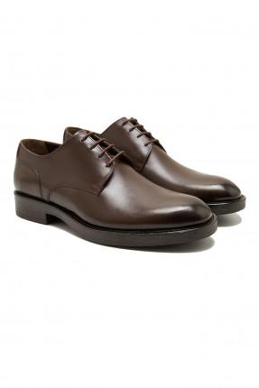 حذاء رجالي جلد كلاسيكي - بني