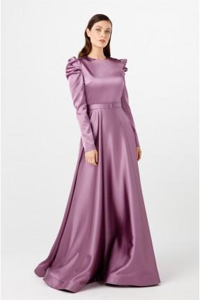 فستان رسمي بزم على الاكتاف