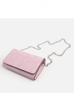 حقيبة يد نسائية سادة اللون - زهري