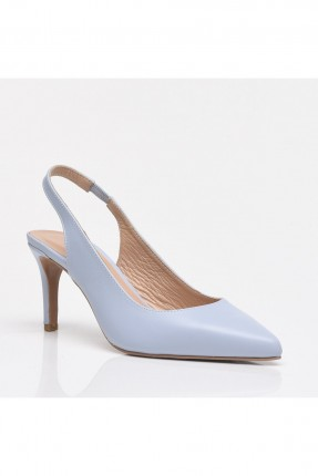حذاء نسائي مفتوح من الخلف - ازرق