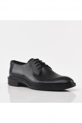 حذاء رجالي سادة - اسود