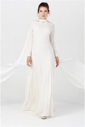 فستان رسمي مزين من الياقة