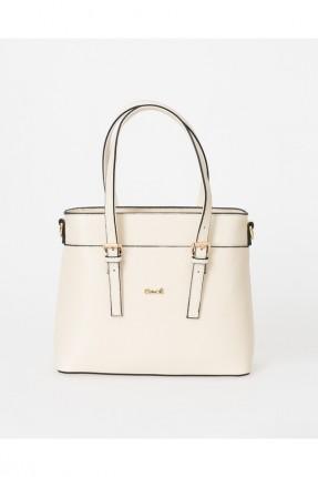 حقيبة يد نسائية باحزمة - بيج