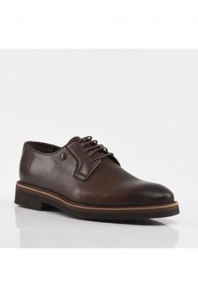 حذاء رجالي مزين برباط - بني