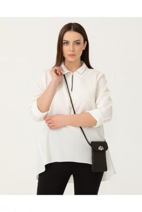 حقيبة يد نسائية مزينة مزينة بستراس - اسود