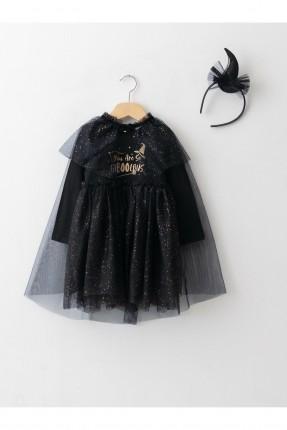 فستان رسمي بيبي بناتي بطباعة 3 قطع