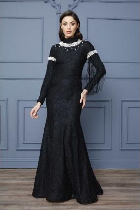 فستان رسمي مزين بنقش