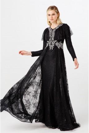 فستان رسمي مزين من الصدر