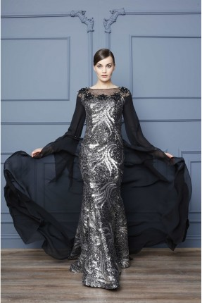فستان رسمي شيك منقش