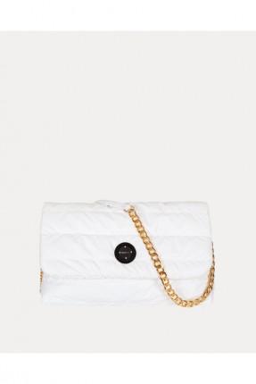 حقيبة يد نسائية سادة اللون - ابيض