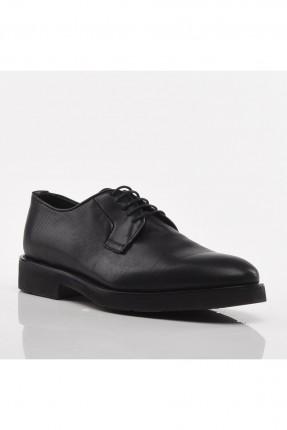 حذاء رجالي مزين برباط - اسود