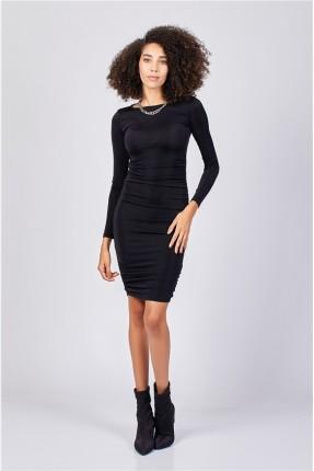 فستان رسمي قصير ضيق - اسود