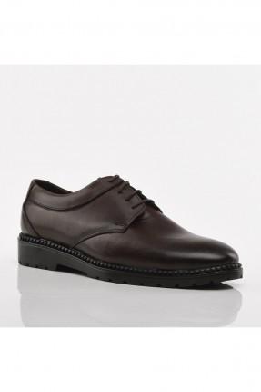 حذاء رجالي برباط - بني