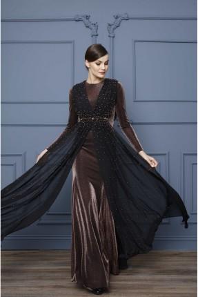 فستان رسمي مزين الخصر