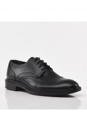 حذاء رجالي مزين مزخرفة - اسود