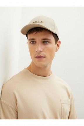 قبعة رجالية سادة اللون - بيج