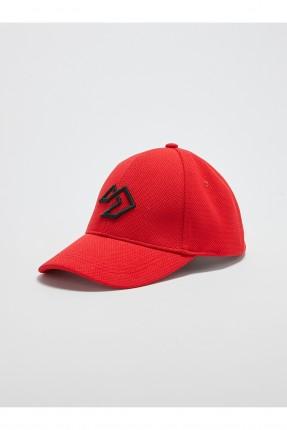 قبعة رجالية بلونين - احمر