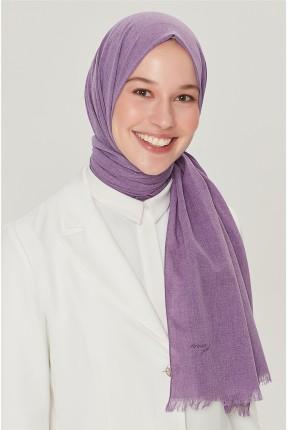 حجاب تركي مزين بشراشيب - بنفسجي