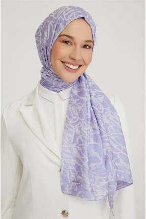 حجاب تركي مزين بنقش