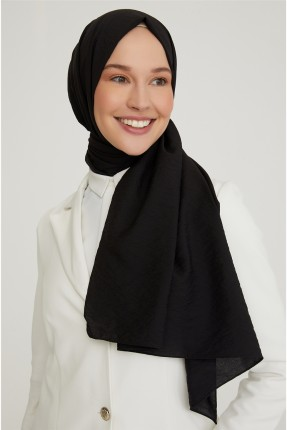 حجاب تركي سادة اللون - اسود