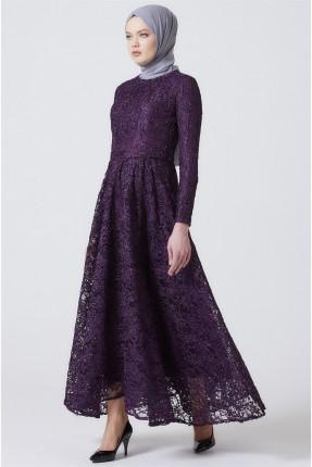 فستان رسمي مطرز - بنفسجي