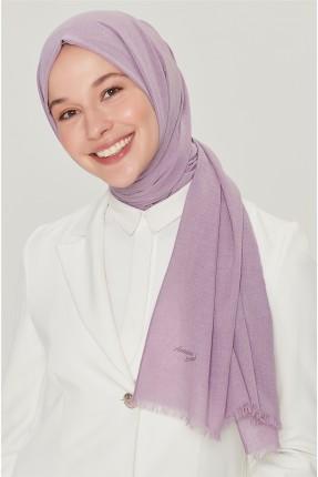 حجاب تركي سادة اللون - بنفسجي