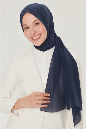 حجاب تركي سادة اللون - كحلي