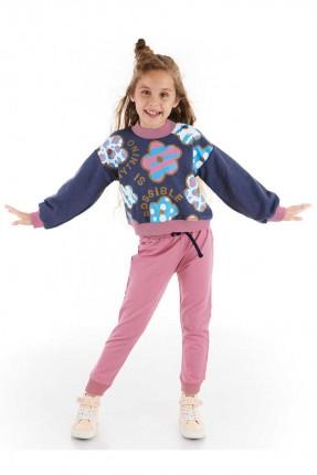 بيجاما رياضة اطفال بناتي مزهرة