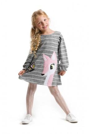 فستان اطفال بناتي مخطط مزين بطبعة فراشة