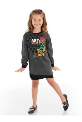 فستان اطفال بناتي مزين بطبعة