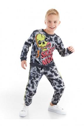 بيجاما رياضية اطفال ولادي مزينة بطبعة Skate More