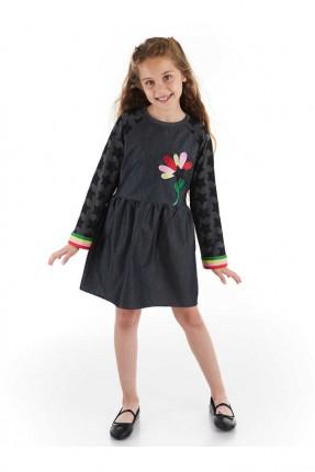 فستان اطفال بناتي مزين بنقشة نجمة