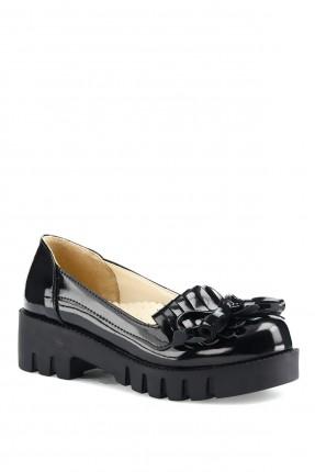 حذاء اطفال بناتي لامع سادة اللون
