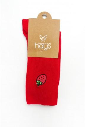 جوارب رجالية مزينة برسمة فراولة
