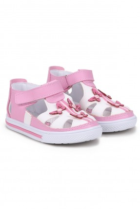 حذاء بيبي بناتي مزين بفراشات