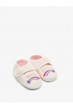 حذاء منزلي بيبي بناتي مزين برسمة