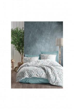 طقم غطاء سرير فردي بنقشة