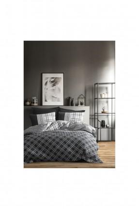 طقم غطاء سرير مزدوج مبطن كاروهات