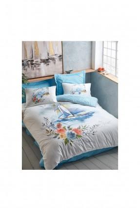 طقم غطاء سرير فردي برسمة