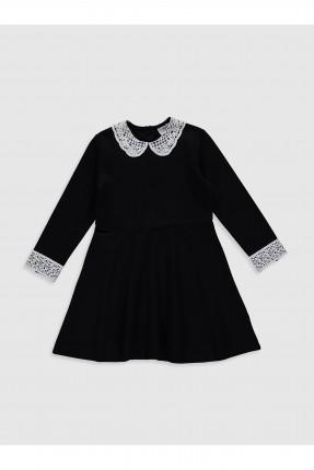فستان اطفال بناتي بياقة مزخرفة