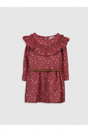 فستان اطفال بناتي بياقة كشكش