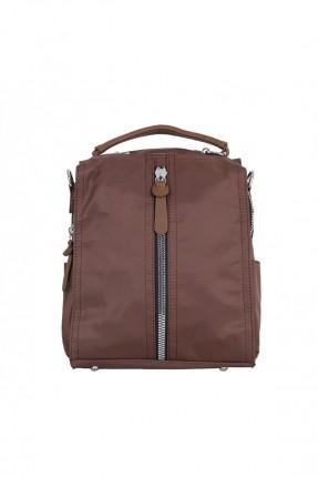 حقيبة ظهر نسائية مزينة بسحاب من الامام